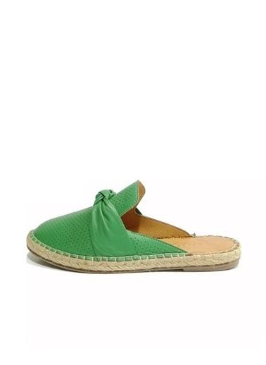 Ballerins Sandalet Yeşil